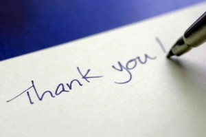 Thank you notes blog